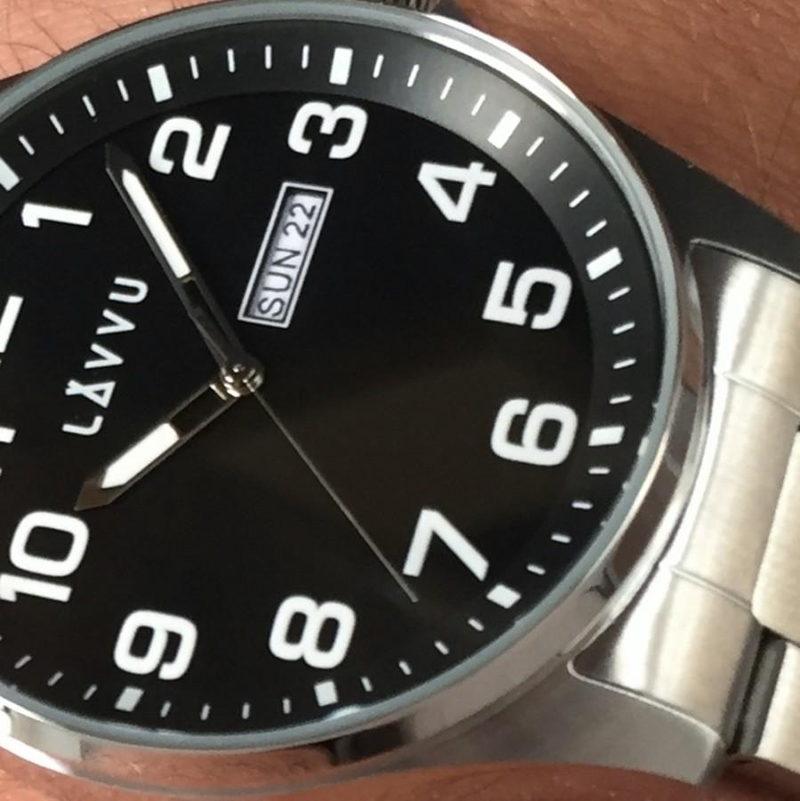 Ocelové pánské hodinky Bergen Black - LAVVU LWM0012 8527ed742b