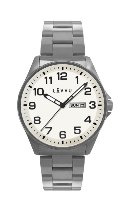 Ocelové pánské hodinky Bergen White - LAVVU LWM0010 a8e458e24e
