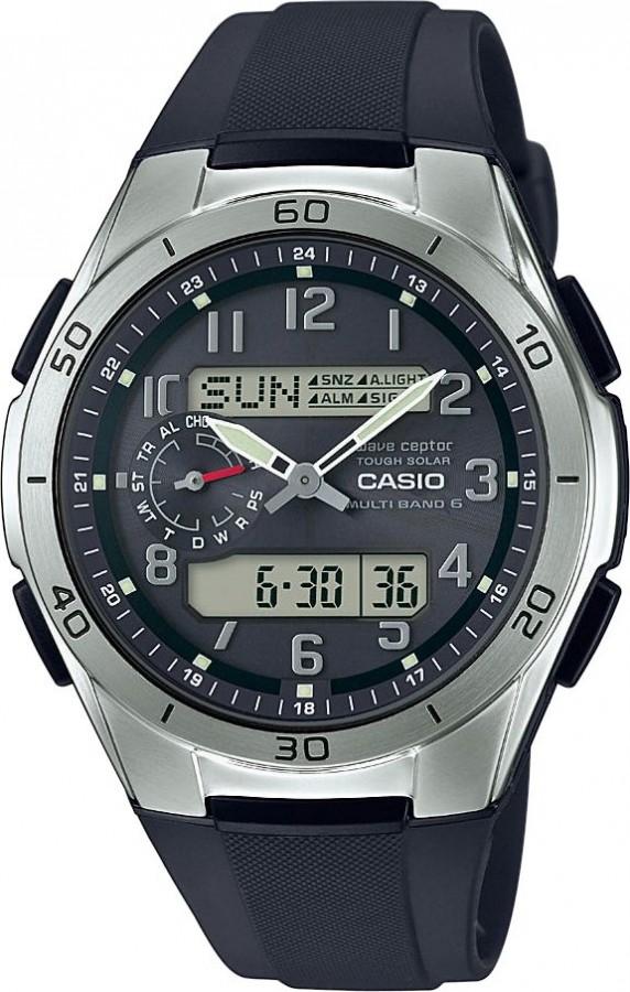 b3d1f2c7364 Pánské rádiem řízené solární hodinky se stopkami - CASIO WVA-M650-1A2