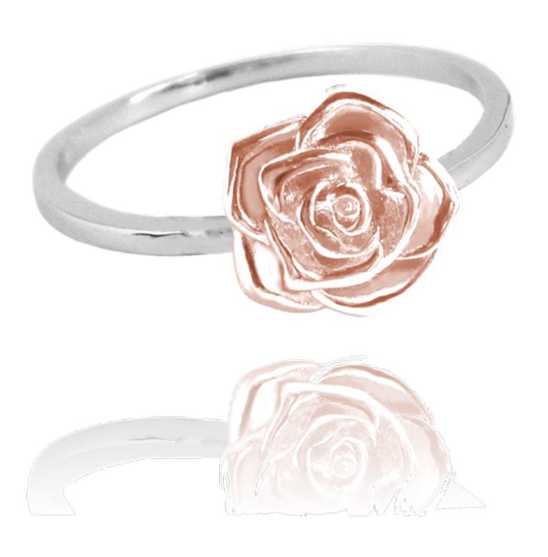 Rose Gold Stribrny Prsten Ruzicka Vel 51 Minet Jmas5003br51