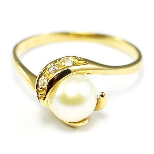 4f761dd08 Zlatý prsten s perlou - BR R0004G